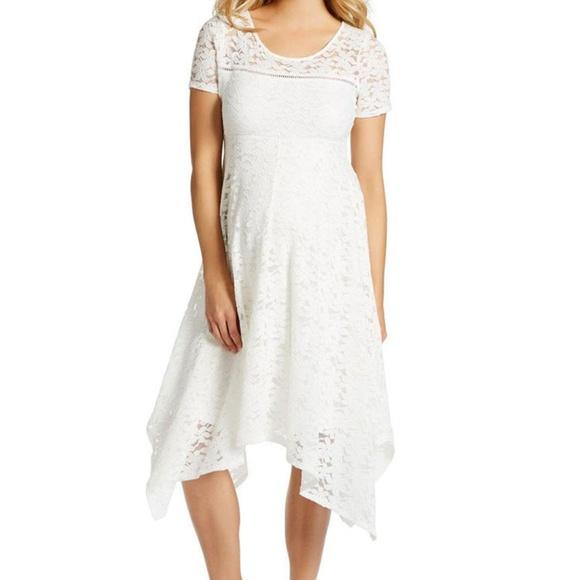 4fa5c16caa355 Jessica Simpson Dresses | White Lace Maternity Dress Sz M | Poshmark